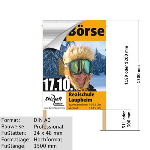 Hohlkammer-Plakatständer DIN A0 24 x 48 mm günstig online kaufen bei McPoster.com