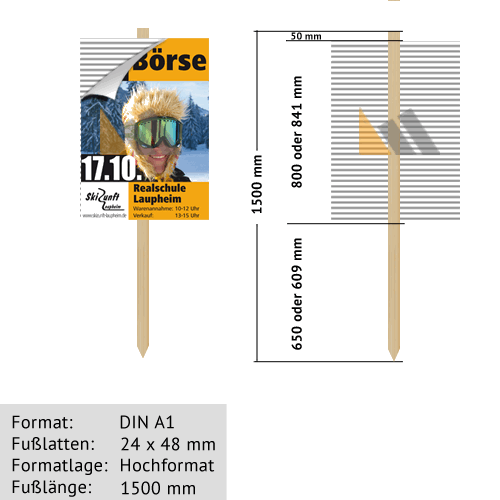 Hohlkammer-Wiesenstecker DIN A1 24 x 48 mm günstig online kaufen bei McPoster.com