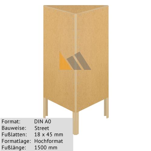 Holz-Dreieckständer zum Bekleben mit Plakaten DIN A0 18 x 45 mm günstig online kaufen bei McPoster.com