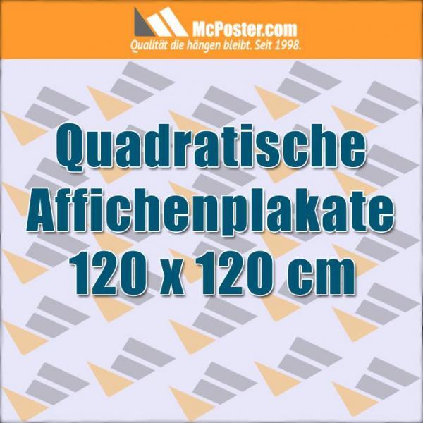 Quadratische Affichenplakate 120 x 120 cm günstig online kaufen bei McPoster.com