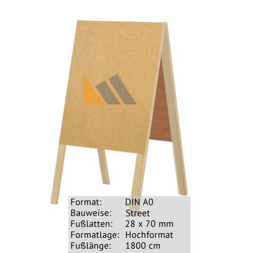 Holz-Dachständer zum Bekleben mit Plakaten DIN A0 28 x 70 mm günstig online kaufen bei McPoster.com
