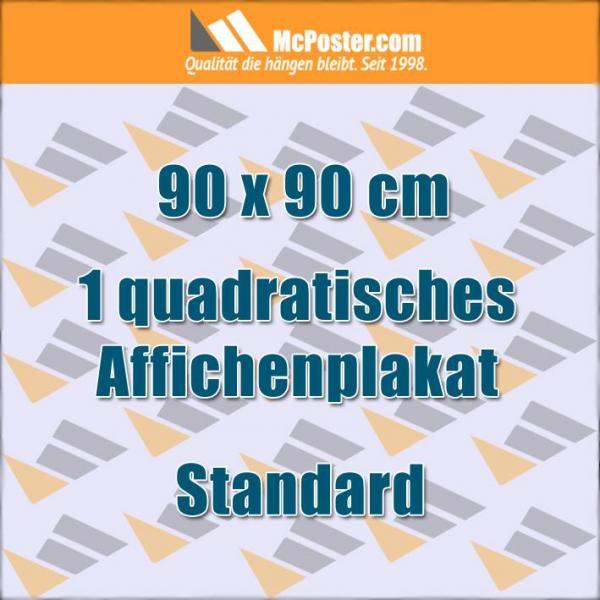 Quadratische Affichenplakate 90 x 90 cm günstig online kaufen bei McPoster.com