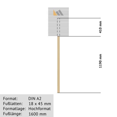 Hohlkammer-Transparente DIN A2 18 x 45 mm günstig online kaufen bei McPoster.com