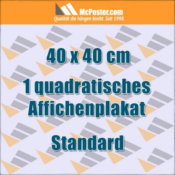 Quadratische Affichenplakate 40 x 40 cm günstig online kaufen bei McPoster.com