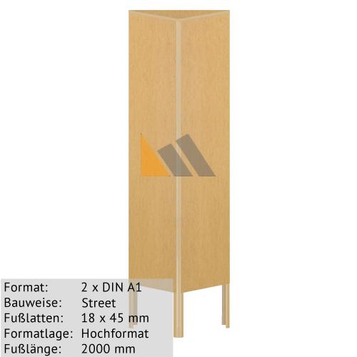 Holz-Dreieckständer zum Bekleben mit Plakaten 2 x DIN A1 18 x 45 mm günstig online kaufen bei McPoster.com