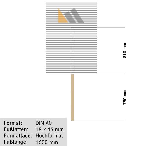 Hohlkammer-Transparente DIN A0 18 x 45 mm günstig online kaufen bei McPoster.com