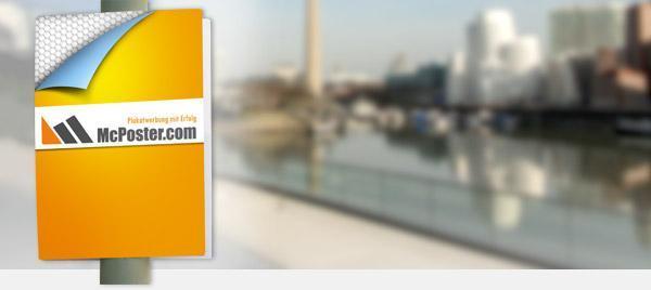 Umplakatierung an Lichtmasten günstig online kaufen bei McPoster.com