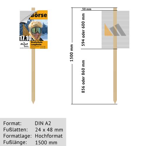 Hohlkammer-Wiesenstecker DIN A2 24 x 48 mm günstig online kaufen bei McPoster.com