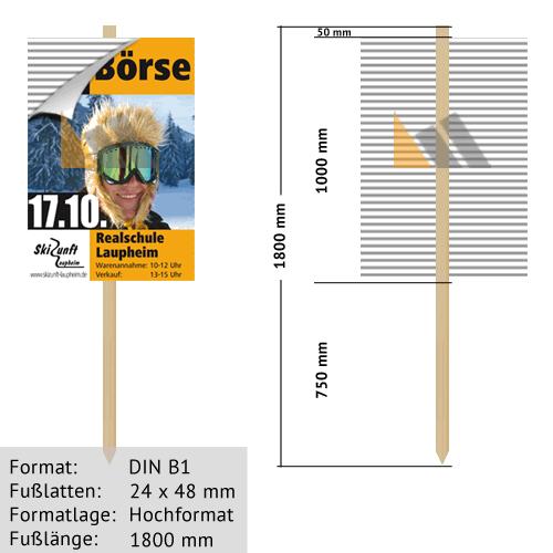 Hohlkammer-Wiesenstecker DIN B1 24 x 48 mm günstig online kaufen bei McPoster.com
