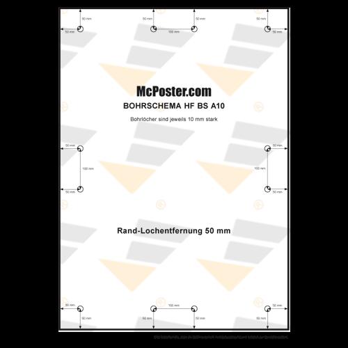 Hartfaser Bohrlochschemen Rand-Lochentfernung 50mm günstig online kaufen bei McPoster.com