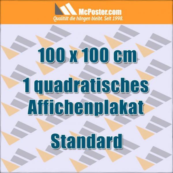 Quadratische Affichenplakate 100 x 100 cm günstig online kaufen bei McPoster.com