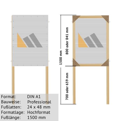 Hohlkammer-Plakatständer DIN A1 24 x 48 mm günstig online kaufen bei McPoster.com