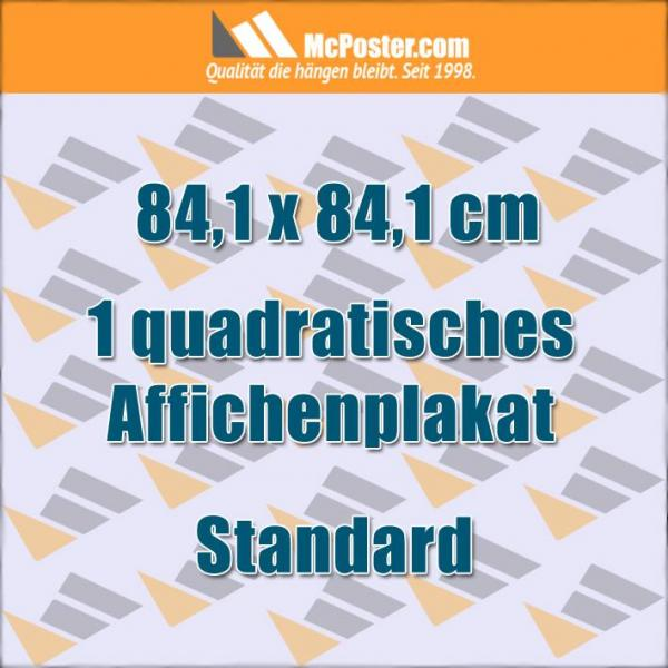 Druck Quadratische Affichenplakate 84,1 x 84,1 cm günstig online kaufen bei McPoster.com