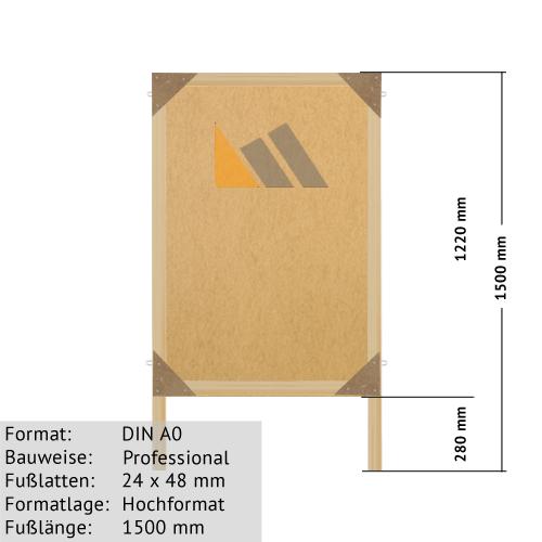 Holz-Plakatständer zum Bekleben mit Plakaten DIN A0 günstig online kaufen bei McPoster.com