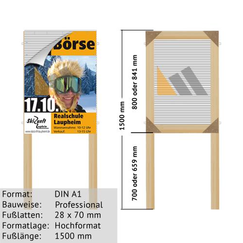 Hohlkammer-Plakatständer DIN A1 28 x 70 mm günstig online kaufen bei McPoster.com
