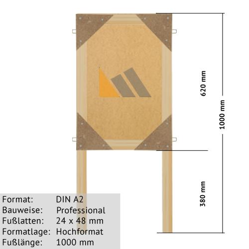 Holz-Plakatständer DIN A2 zum Bekleben mit Plakaten 24 x 48mm günstig online kaufen bei McPoster.com