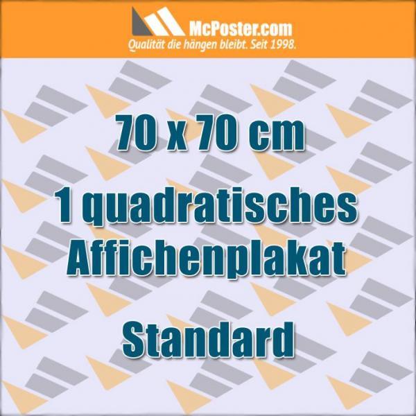 Quadratische Affichenplakate 70 x 70 cm günstig online kaufen bei McPoster.com